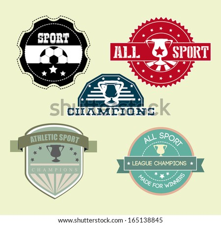 all sport  over cream  background vector illustration