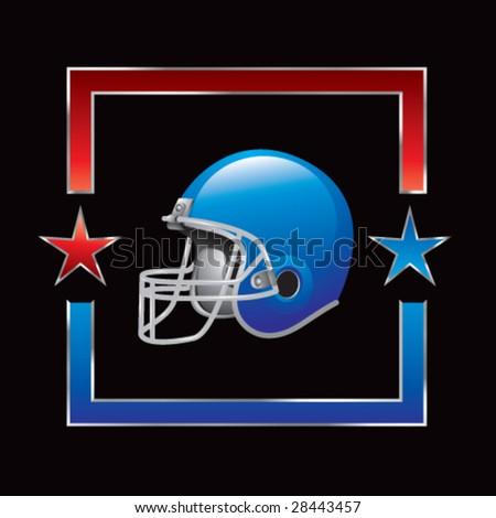 all-star football helmet - stock vector