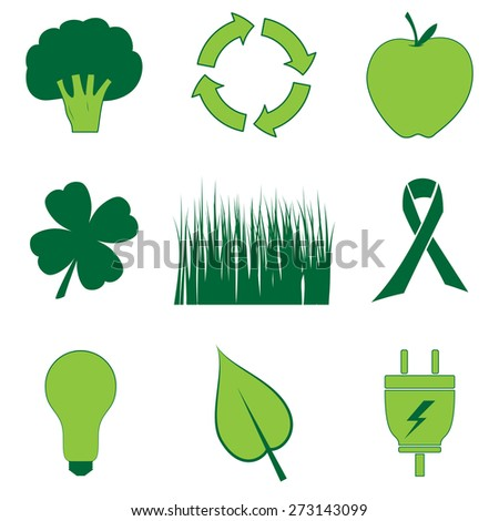 All Things Green - stock vector