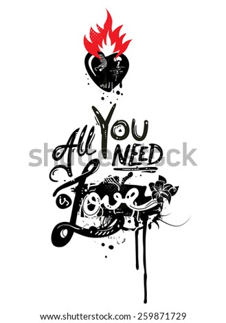 All You Need is Love - stock vector