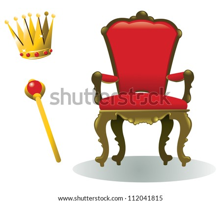 all you need to be a king, in addition to a reign, of course - every object is singly grouped - stock vector