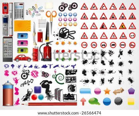 All you need vector Pack - over 140 design elements - stock vector