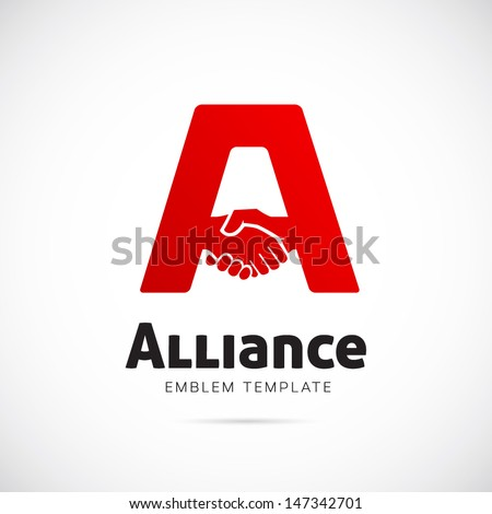 Alliance symbol icon or logo template - stock vector
