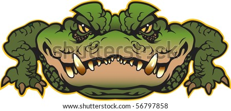 Alligator vector done in multiple layers for easy editing. - stock vector
