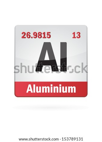 Alluminium Symbol Illustration Icon On White Background - stock vector