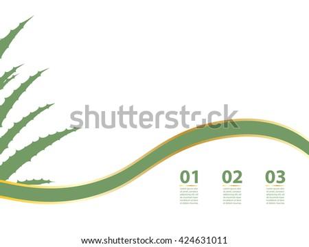 Aloe Vera flyer - stock vector