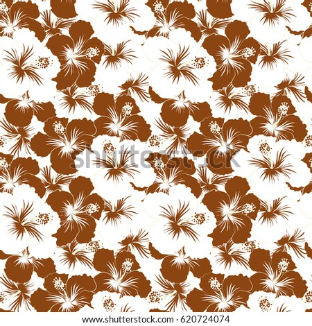 Aloha hawaii luau party invitation neutral stock vector 620724074 aloha hawaii luau party invitation with neutral brown and white hibiscus flowers vector stopboris Gallery