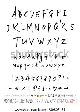 Alphabet Number Handwriting Vector Stock Vector 371529547 ...