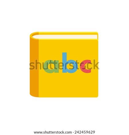Alphabet book, modern flat icon - stock vector