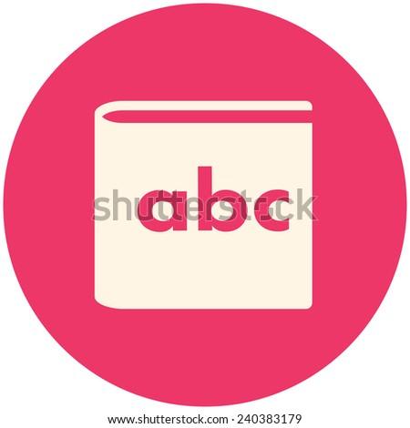 Alphabet book, vector icon flat design - stock vector