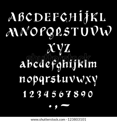 Alphabet design retro style, back to school style./ Cyrillic alphabet - stock vector