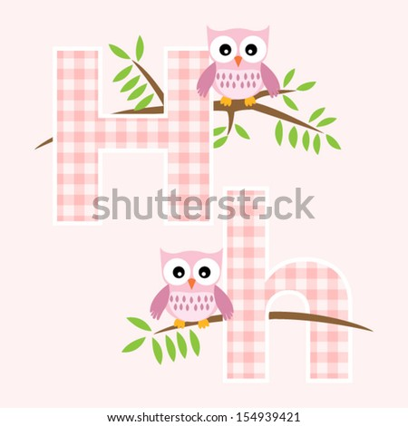 h alphabet pictures  Alphabet for baby girl with