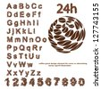 Alphabet From Coffee Beans Design - Vector Illustration - stock vector