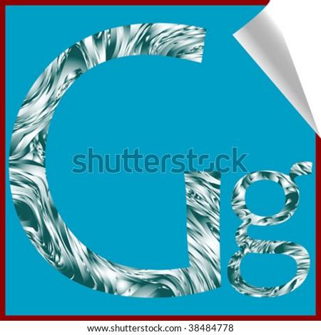 alphabet letter G, vector art illustration; more alphabet stickers in my gallery - stock vector
