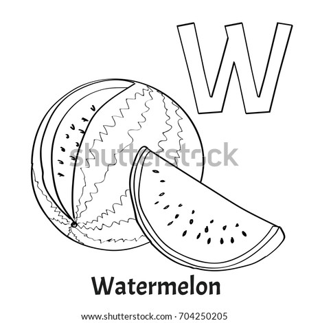 """w Is For Watermelon"" Stock Royalty Free"