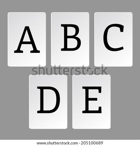 Alphabet  letters A-Z - stock vector