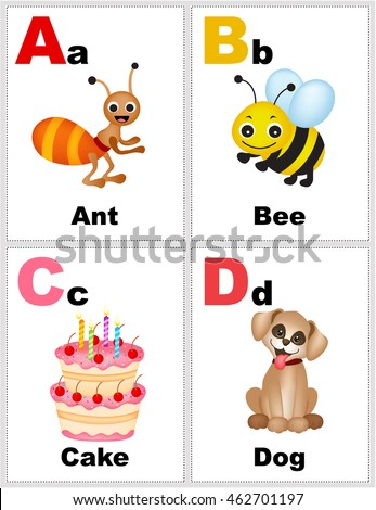 letter flash cards
