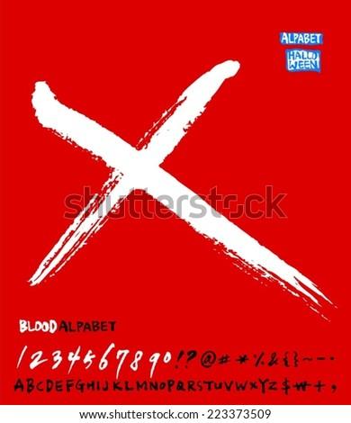 alphabet / Red Version - stock vector