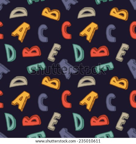 alphabet seamless background - stock vector