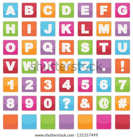 Cut Out Alphabet Shapes Letters Numbers Stock Vector 106584230 ...