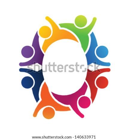 O Alphabet Logo Alphabet Teamwork Letter O