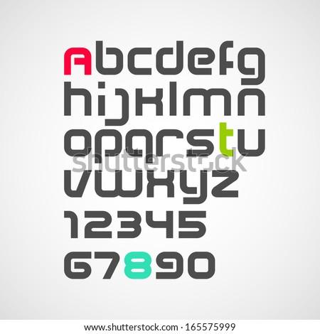 alphabet. vector font - stock vector