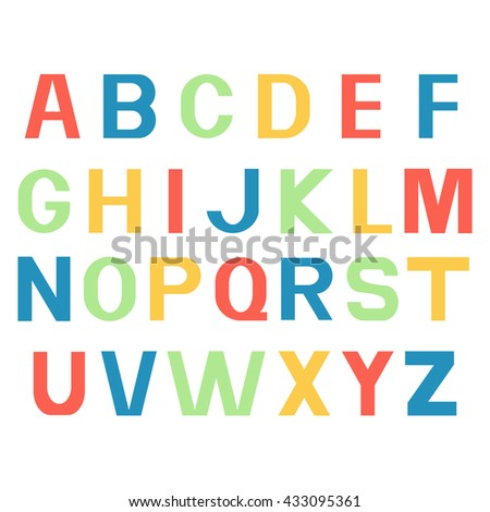 printed different colour letters