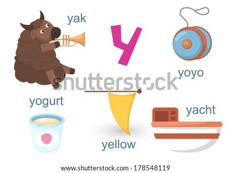 Alphabet Y - stock vector