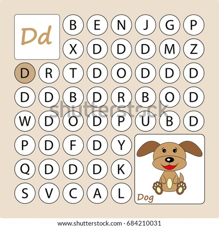 Alphabetical labyrinth learning letter d task stock vector hd learning a letter d task go by the letter d thecheapjerseys Choice Image