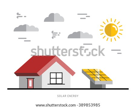 Alternative energy. Alternative energy concept. Solar energy. Solar panels. The installation of solar panels. - stock vector