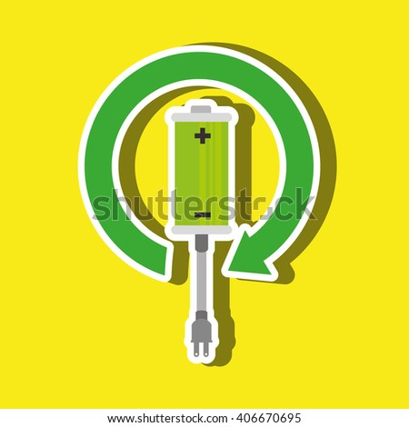 Alternative energy design  - stock vector