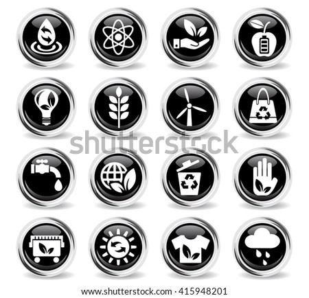 alternative energy web icons for user interface design - stock vector