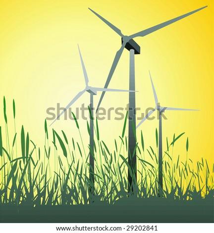 Alternative green power source - stock vector