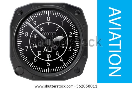 Altimeter vector illustration - stock vector