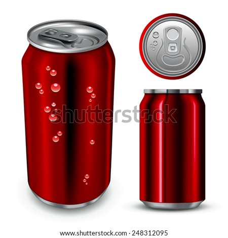 Aluminum can  isolated on white. Vector illustration - stock vector