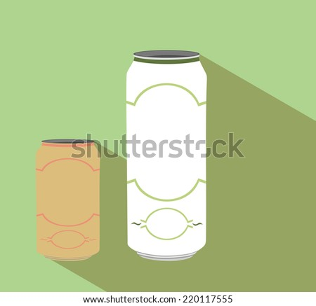 aluminum cans  - stock vector