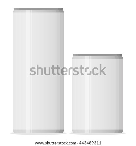 Aluminum cans for beer and soft drinks or energy. Packaging 500 and 330 ml. - stock vector