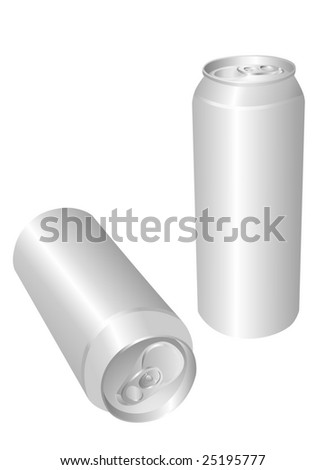 aluminum drink can - stock vector