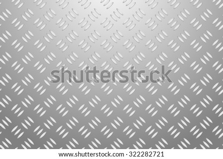 Aluminum embossed sheet vector background of three embossed shapes. Grey background with light at the upper edge of the vector. - stock vector