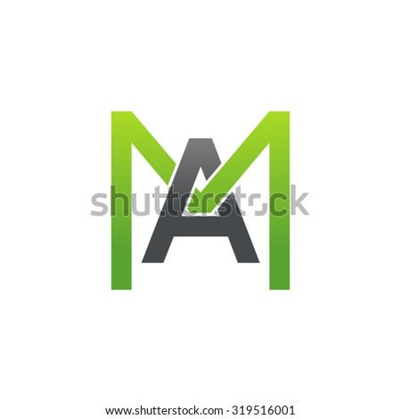 Abstract shell conch linear logo design letter m vector