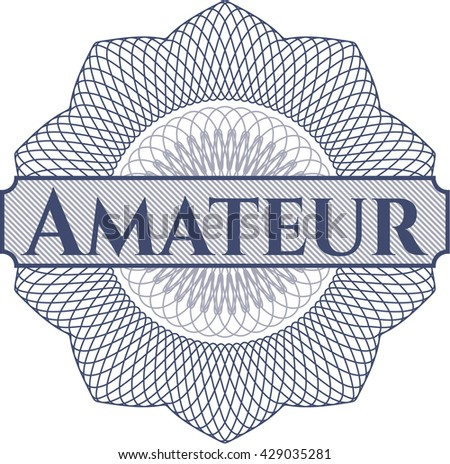 Amateur inside a money style rosette - stock vector