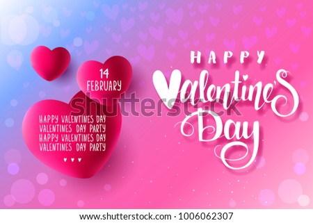 Amazing Card Hearts Valentines Day Beautiful Stock Vector ...