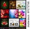 Amazing Collection of Christmas Flyers: 9 stunning background for Seasonal Greetings . - stock vector