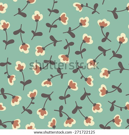 Amazing cute seamless vintage colorful floral pattern - stock vector