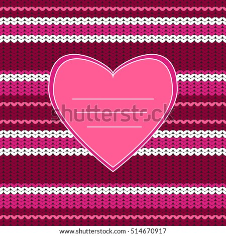 Amazing Knitted Texture Heart Knitting Seamless Stock Vector Hd