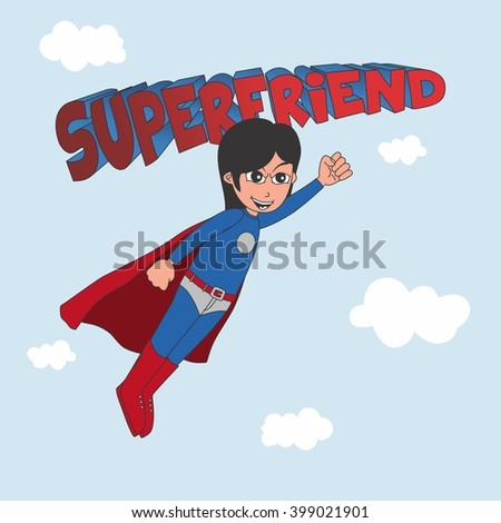 amazing superhero cartoon character