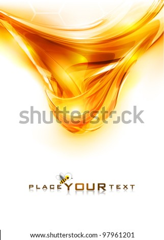 Amber honey. Abstract background. Vector - stock vector