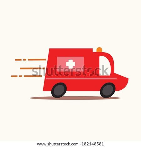 Ambulance car. - stock vector