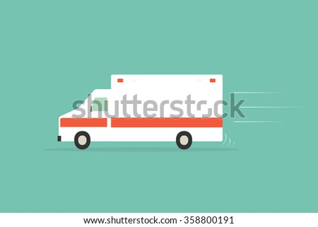 Ambulance car - stock vector
