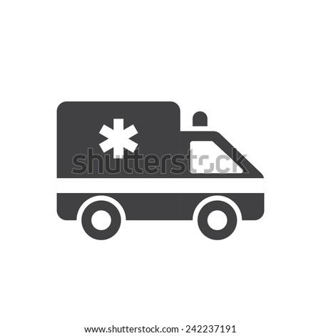 Ambulance car, modern flat icon - stock vector
